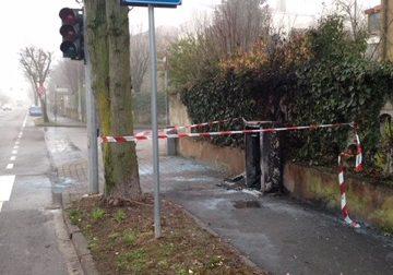 Semaforo di via Togliatti: l'incendio atto intimidatorio?