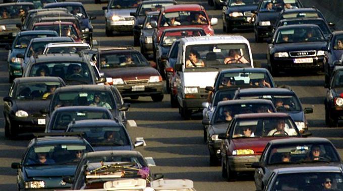 Traffico paralizzato in tangenziale