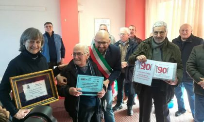 Festa a sorpresa per i 90 anni di Giuliano Fabbi
