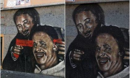 Murales Falcone e Borsellino a Milano vandalizzato e ripulito