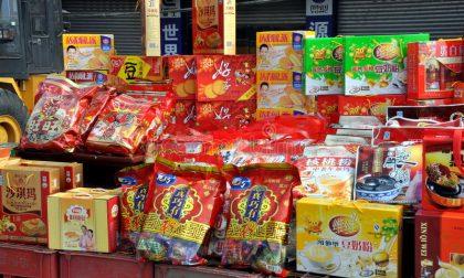Sequestro alimenti cinesi con etichette modificate