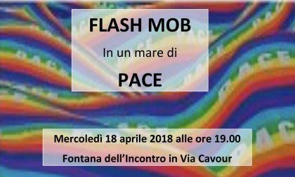 Venti di guerra: un flash mob a Corsico per la pace