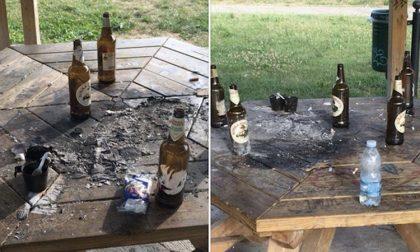 Bottiglie e fiamme al gazebo, vandali colpiscono ancora Passeggiata Rossini