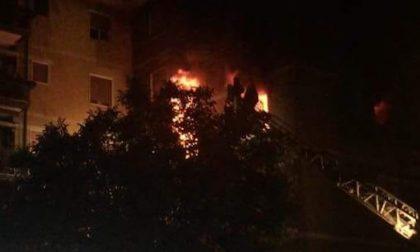 Divorati dalle fiamme tre appartamenti in via Turati FOTO