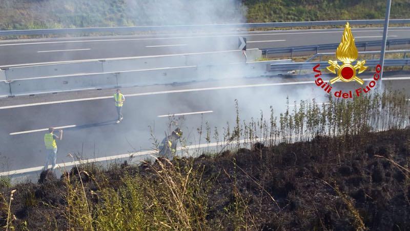 Vasto incendio A58