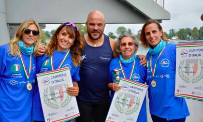 A 78 anni, di Trezzano: ecco la campionessa di canoa con le tre figlie