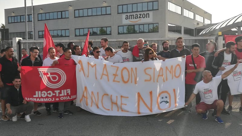 corrieri Amazon scioperano