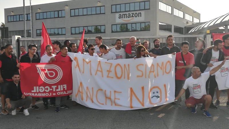corrieri Amazon scioperano