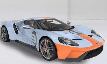 Nuova Ford GT Heritage Edition 2019 con livrea Gulf Oil