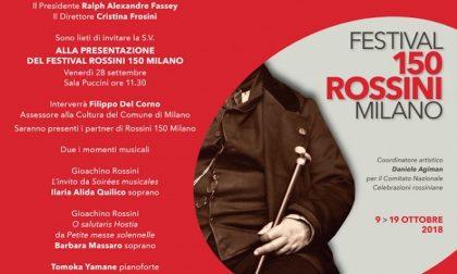 Al via domani il Festival Rossini 150