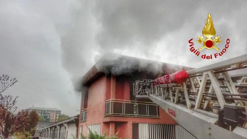 Incendio a Civesio