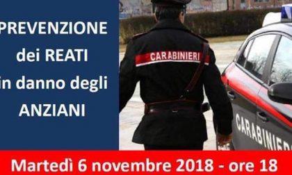 Truffe anziani, alle 18 un incontro con i carabinieri