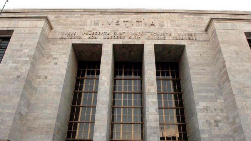 Vigilantes al Palazzo di Giustizia
