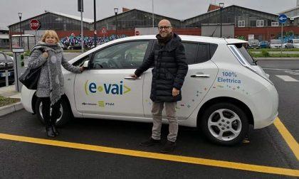 Le auto elettriche di E-Vai arrivano a Trezzano