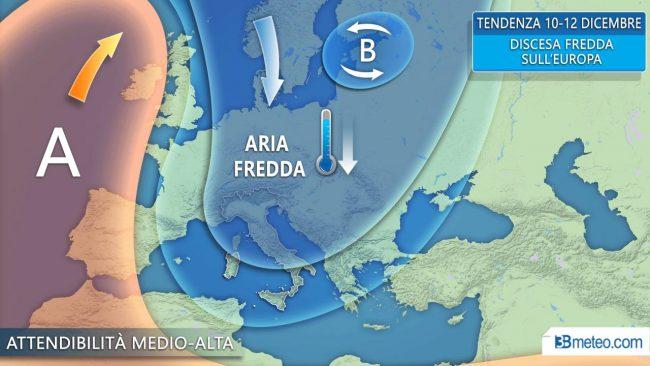 previsioni meteo Immacolata