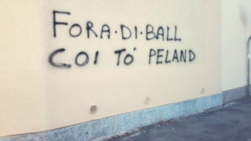 scritta sui muri