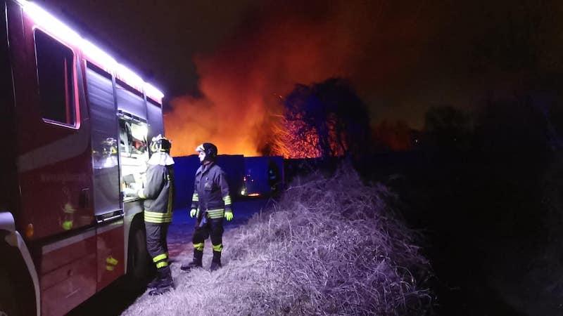 Incendio agli orti