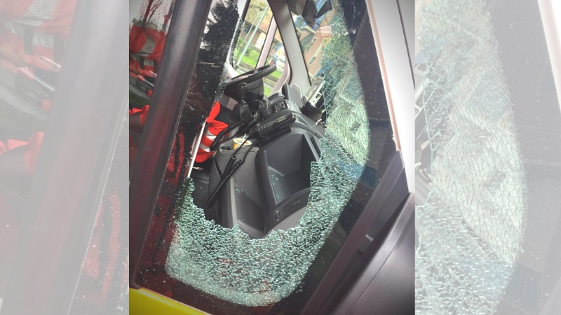Spacca vetro ambulanza