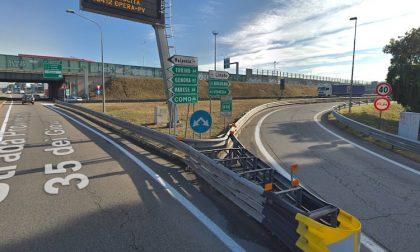 Interventi di Serravalle: chiuso svincolo di entrata dalla statale pavese
