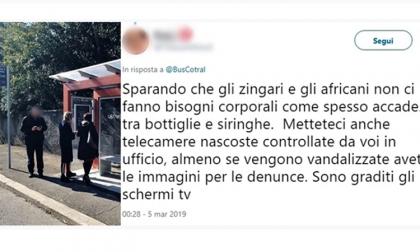 """""""Zingari e africani sporcano le pensiline"""": l'azienda di trasporto risponde al commento"""