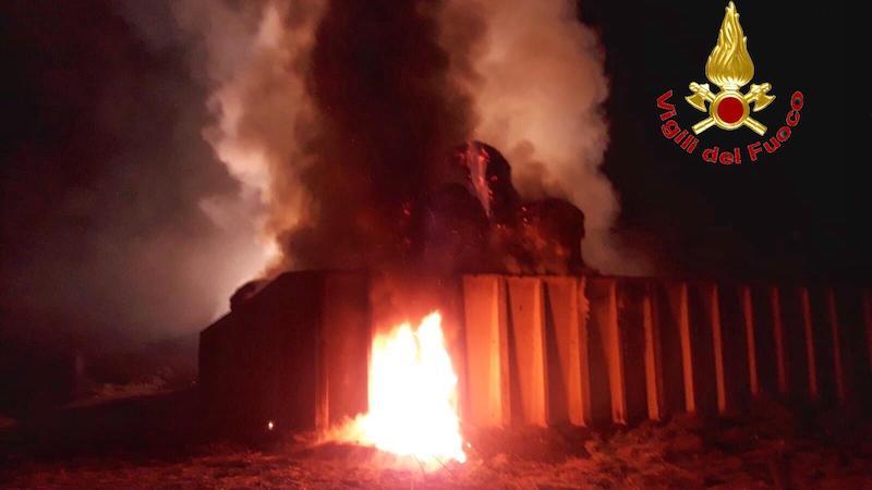 Incendio in cascina