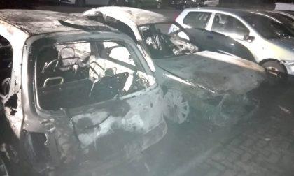 Incendio nella notte: quattro vetture avvolte dalle fiamme