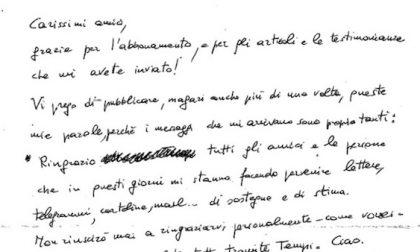 """Formigoni scrive lettera dal carcere: """"Grazie amici"""""""