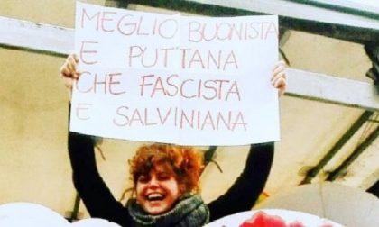 Salvini pubblica la foto della manifestante: migliaia di insulti per la 23enne