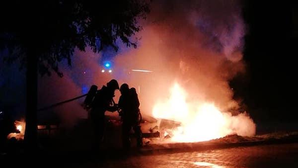 Violento incendio