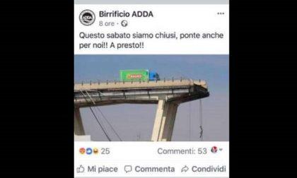 Birrificio pubblica post con il Ponte Morandi: pioggia di critiche e pagina Facebook rimossa