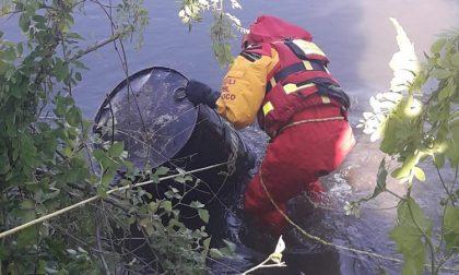 Fusto di olio gettato nella roggia: recuperato da pompieri e ambientalisti FOTO