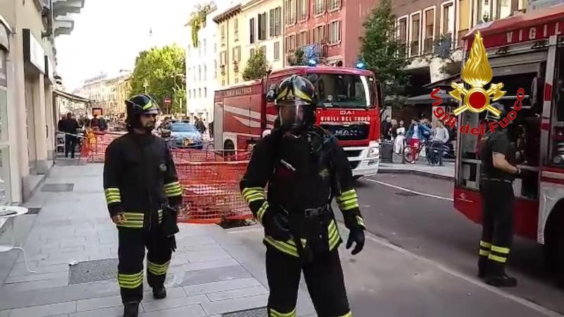 Incendio in un ristorante