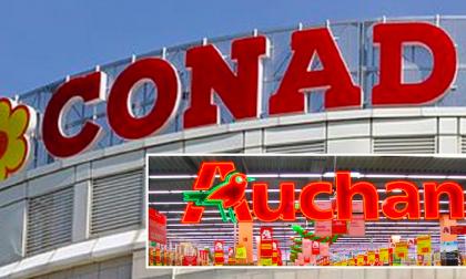Conad compra la maggior parte dei supermercati Auchan