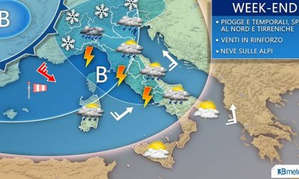 PREVISIONI METEO Piogge e temporali nel weekend, in arrivo nuova ondata di maltempo
