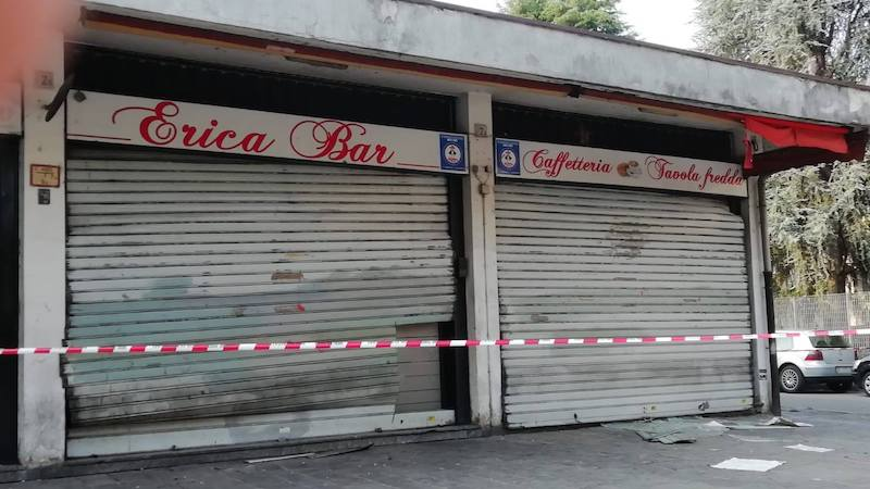 Incendio doloso bar Erica