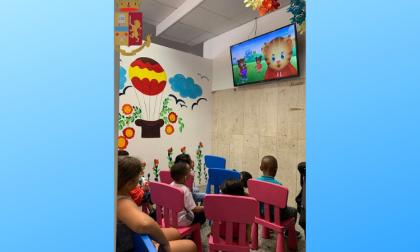 Uno spazio per i bambini all'Ufficio Immigrazione della Questura