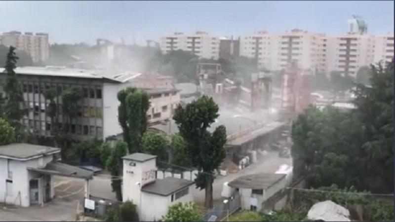 nube di polvere bianca