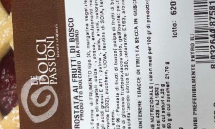 Fate attenzione se avete in casa le crostate a marchio Le Dolci Passioni
