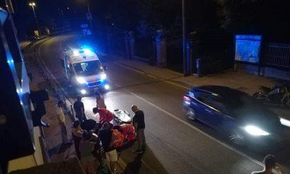 Incidente tra auto e moto al Dosso Cavallino: due feriti