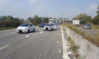 Incidente sulla sp412, traffico difficoltoso per la rimozione dei detriti