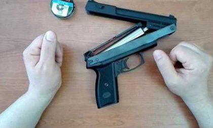 Minacciava la moglie con pistole ad aria compressa