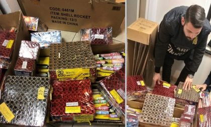 Sequestrati 300 chili di fuochi d'artificio illegali