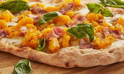 Pizza in autunno, specialità gourmet