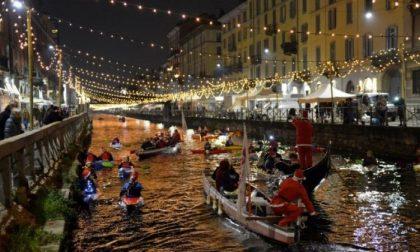 Concerto di Natale itinerante in canoa lungo il Naviglio