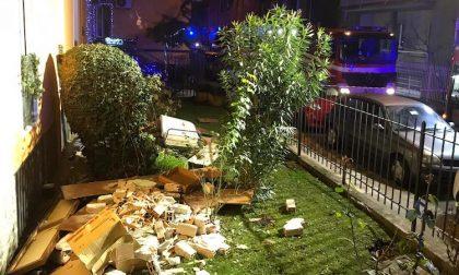 Esplosione in appartamento a Senago, crolla un muro