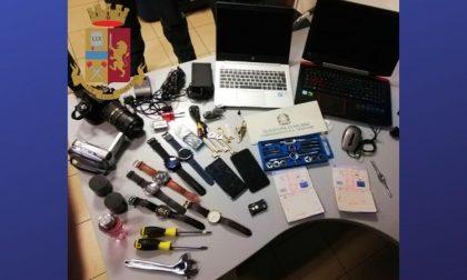 Ladri di cellulari, pc e borse trovati con la refurtiva dalla polizia