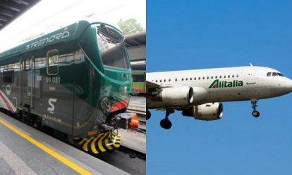 Alitalia si ferma per sciopero e cancella oltre 350 voli, domenica tocca a Trenord