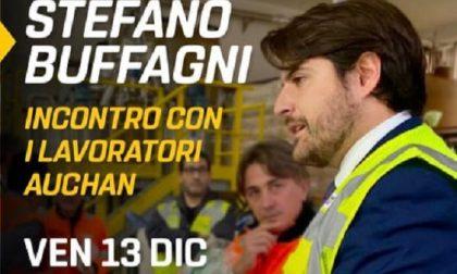 Questa sera Stefano Buffagni incontra i lavoratori Auchan