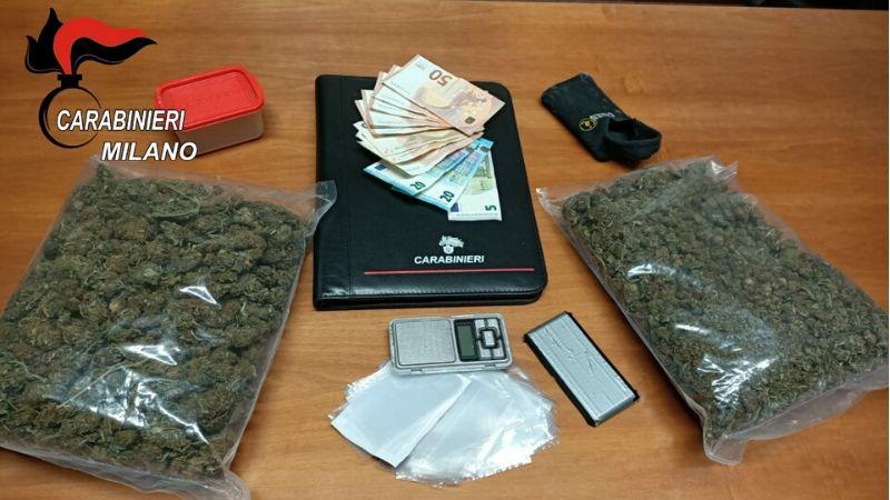 nasconde marijuana