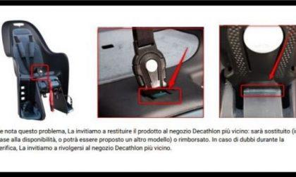Decathlon richiama seggiolino portabebè per biciclette: rischio lesioni